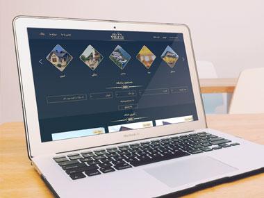طراحی سایت املاک ویلا لوکس