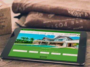 طراحی وب سایت مشاورین املاک